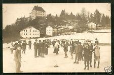 Ice stock sport Curling Eisstockschiessen rppc Germany 1910 stamp