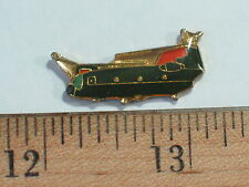 CH-47 Chinook Helicopter Pin,  Darker Green Vintage Chinook Pin , (**)