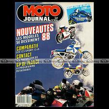 MOTO JOURNAL N°806 YAMAHA 125 TZR, HONDA 125 NSR & RM, SUZUKI RG 125 GAMMA 1987
