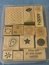 Stampin Up! Polka Dots & Paisley - Polka Dots & Petals - Mounted Unused  2 sets