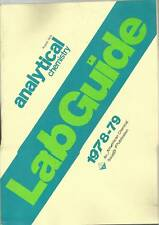 Analytical Chemistry Lab Guide Catalog August 1978 American Chemical Society