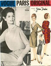 1960's VTG VOGUE PARIS ORIGINAL Dress&Bolero Jean Desses Pattern 1226 14