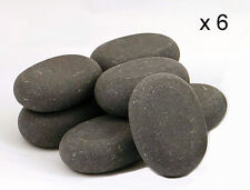 HOT STONE MASSAGE: 6 Large Basalt Stones - 7.5 x 5.5 x 2.75 cm