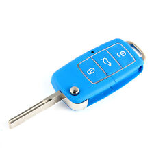 3 Button Remote Key Fob Case For VW Volkswagen Bora Beetle Golf Polo Passat Blue