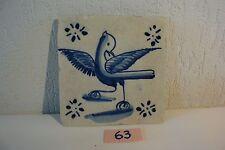 C63 Très ancien carrelage DELFT XIX ème siècle old tiles