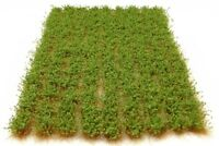 x117 Green bushy tufts - Self adhesive static model scenery