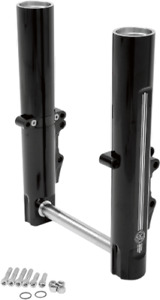 Performance Machine Dual Disc Black Lower Fork Legs for 2014-2020 Harley Touring