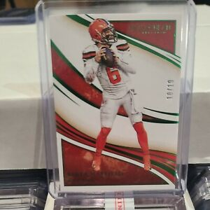 2021 Panini Immaculate Football Collegiate BAKER MAYFIELD Green Base /19  Browns