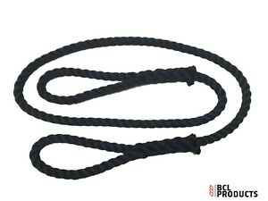 Navy Blue  Poly Soft Rope Sling / Strop With Loop Each End  Choose Size & Length