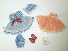 """Vintage Old Stock 8"""" DOLL CLOTHES DRESS + SHOES For GINNY MUFFIE GINGER *Xlnt"""