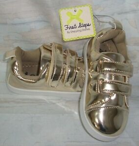First Steps by Stepping Stones Metallic Sneaker Shoes Toddler Size US 9,UK 8 NEW