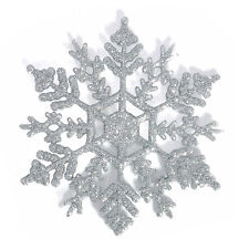 12x Glitter Christmas Snowflakes Xmas Tree Decorations Craft Party Home Ornament
