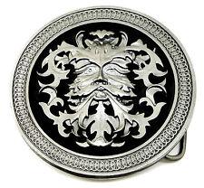 Green Man Fibbia della Cintura circolare tondo da Celtic autentico prodotto Dragon Designs