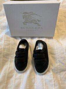 New Authen Burberry Sneakers kids Boys Nova Plaid Tennis Shoes Black 19 3 $235