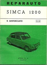 REPARAUTO / SIMCA 1200 - GUIDE TECHNIQUE ESPAGNOL