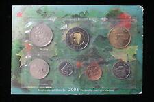 2003 Canada. 7 Coin Uncirculated RCM Set, Card & Envelope. (#1)