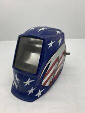 Miller Welding Helmet American Flag Design Welders Face Protection Helmet