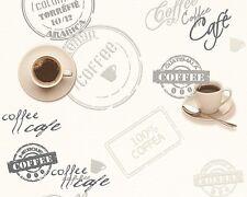 EUR 2,25/qm / Vinyltapete AS Creation 943081 / Kaffee Tapete Cafe / Küche Weiß