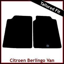 Citroen Berlingo Van Mk1 1996-2007 1-Clip Tailored Fitted Carpet Car Mats BLACK