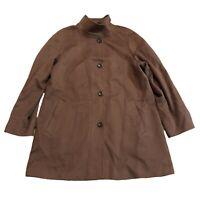 Schneider Salzburg Womens Brown Wool & Cashmere Coat Jacket Size 40/18UK