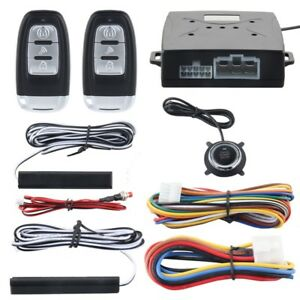 PKE Car Alarm System Passive Keyless Entry Engine Start Push Button Remote Kit