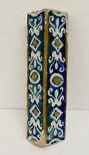 Portuguese Antique Decorated Corner Tile