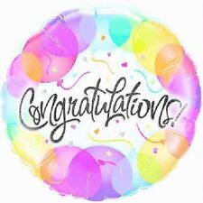 "Qualatex 18"" Round Congratulations Balloons Foil Balloon Celebration Decoration"