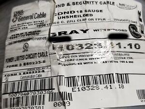 Carol E1032S 18/2C Bare Copper Sound/Security/Alarm Cable Riser Gray /100ft