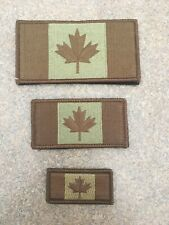 "Canadian Flag Patch 2x1"". Multicam. Hooks Backing. Small."