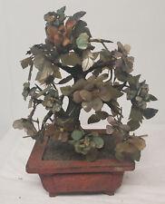 Antique Vintage Chinese Jadeite Jade Tree Turquoise Carnelian Turquoise Stone