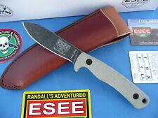 ESEE AGK Ashley Game Knife 1095 Carbon Steel Canvas Micarta Leather Sheath