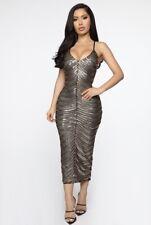 Fashion Nova Truth Hurts Sequin Midi Dress Size L