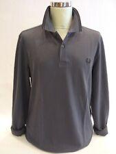 FRED PERRY M3636 maglia polo uomo manica lunga in cotone col.C12 grigio graphite