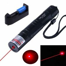 High Power 650nm Red Laser 5mW Pointer Pen Visible Beam Light Lazer  & Charger