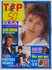 Revue TOP 50 Novembre 1989 Elsa  Johnny Hallyday