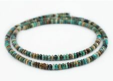 Green Turquoise Rondelle Beads 6mm Disk Gemstone 16 Inch Strand