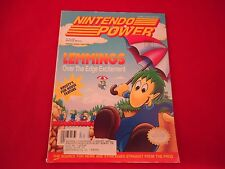 Nintendo Power Volume 37 Lemmings Cover w/ Attached Ultra Bots Poster