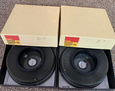 2 Kodak Carousel Transvue 140 Projector Slide Trays with original boxes 35mm