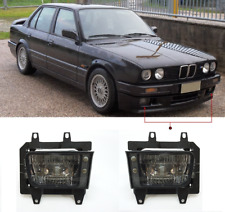 Pair GLASS foglamps foglights fogs Fog SMOKED SMOKE BMW E30 facelift 1988-