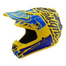 2019 Troy Lee Designs SE4 Polyacrylite Factory Yellow Blue Medium MX Helmet TLD