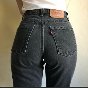 Women`s Vintage Levi`s 550 High Waisted Relaxed Mom Jeans UK 16 / W36 L30