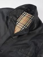 Burberry London Nova Check Calf Leather Coat Jacket Mens Size XL UK/IT 56  US 46