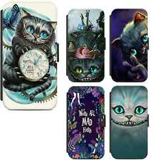 Alice In Wonderland Cheshire Cat Wallet Flip Phone Case Cover iPhone Samsung