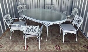 "Discontinued Brown Jordan ""Elegance"" Collection Neoclassical Style Dining set"