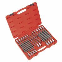"""Sealey AK2197 TRX-Star/Spline/Hex/Ribe Socket Bit Set 22pc 1/2""""Sq Drive 200mm"""