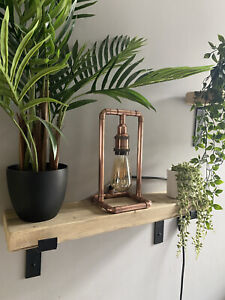 copper pipe Table lamp - Industrial Style - Handmade - Lighting