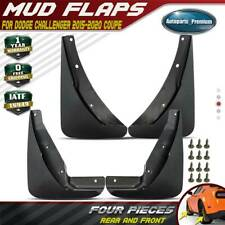 4PCS Rock Splash Guards Molded Stoneguard Fits Dodge Challenger Mud Flaps 15-20