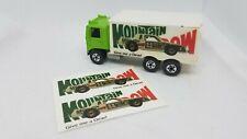 Mtn Dew -set of 2 stickers-fits Hot Wheels Hiway Hauler Trailer- Clone Prototype