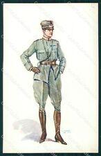 Militari Propaganda WWI Uniforme Esercito GMD cartolina XF0523