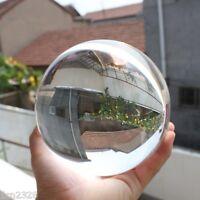 Asian Rare Natural Quartz Clear Magic Crystal Healing Ball Sphere 80mm+Stand&@#